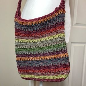 The Sak Crossbody Crochet rainbow boho